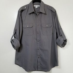 Kenneth Cole military style mens shirt